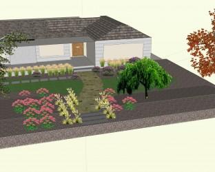 CAD 3D front view