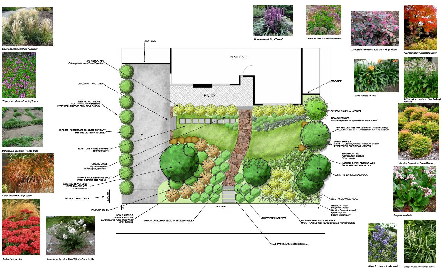 perfect front garden design master plan enlarge cad pictures gallery